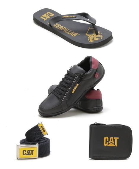 Kit Tenis Casual +chinela+carteira+cinto Caterpillar
