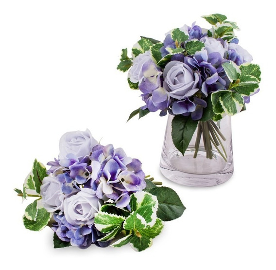 Ramo De Flores Hortensia Celeste