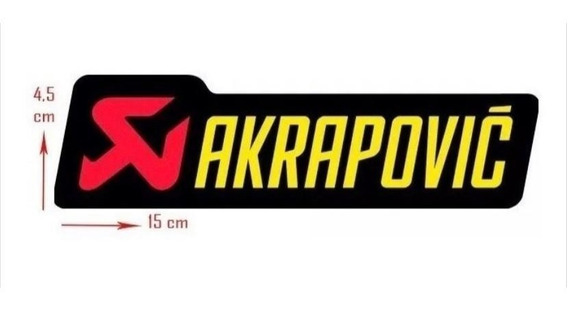 Adesivo Akrapovic 100% Original P/ Escapamentos / Ponteiras