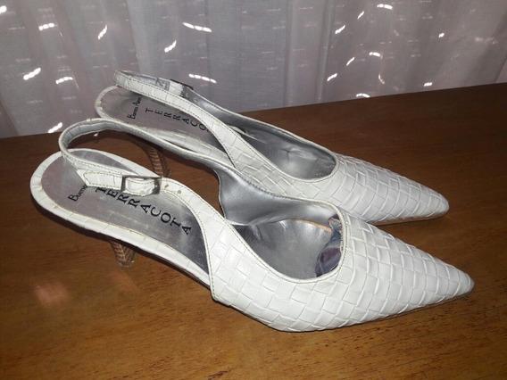 Stiletto Cuero Blanco Stock