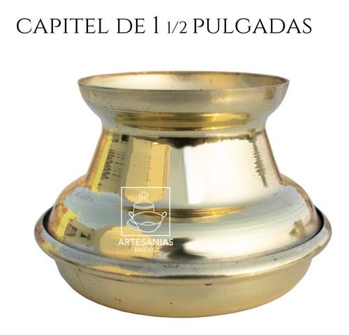 Imagen 1 de 2 de Capitel Para Cirio De 4 Cm O 1 1/2 Pulgadas De Diámetro