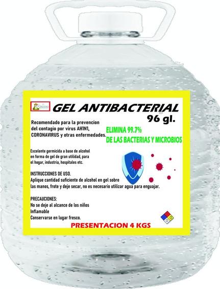 Gel Antibacterial 96% Oferta 4 Kgs.