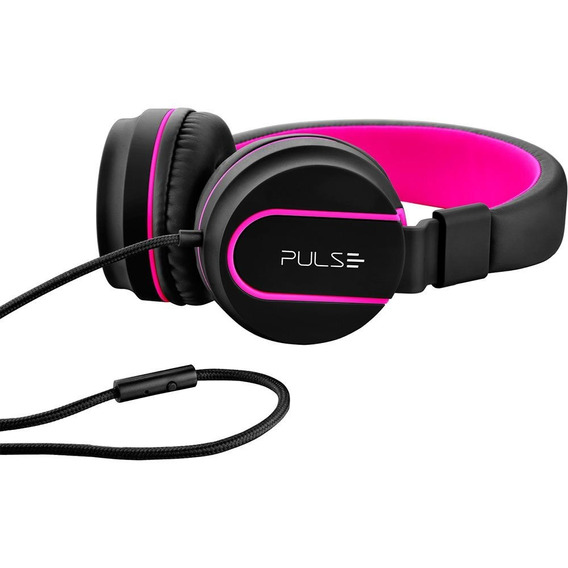 Fone De Ouvido Pulse Fun Bluetooth Preto E Rosa Ph216