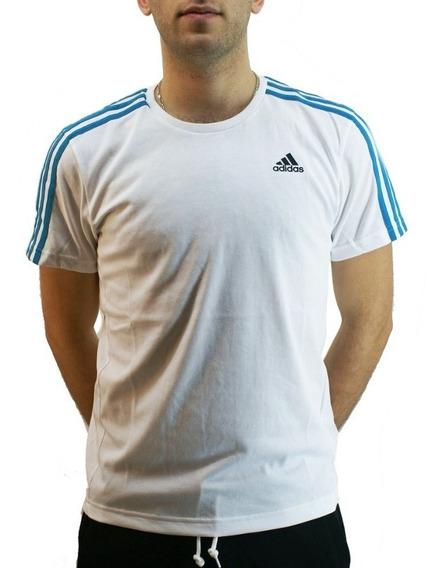 Remera adidas Climalite Blanco/celeste Hombre Deporfan