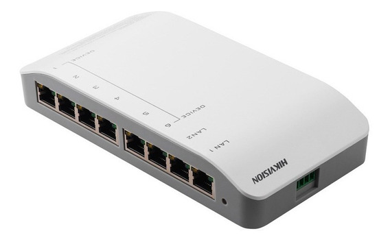 Switch Modulo De Conexion Hikvision Ds-kad606-n 8 Interfaces