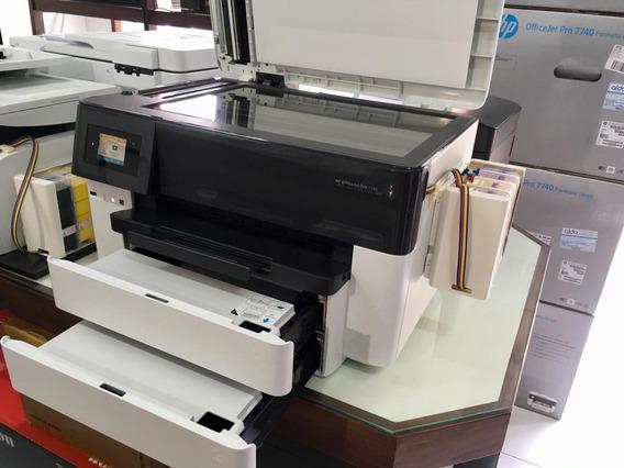 Impressora Hp Officejet Pro 7740 - Nova Com Bulk Ink