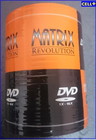 Dvd-r Matrix 16x 4.7 Gb Torre X 100 Unidades