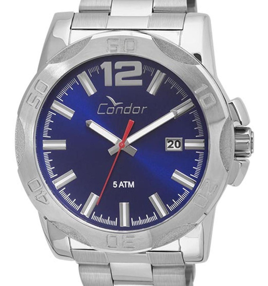 Relógio Condor Original Co2415bg/3a Masculino Prata + Nota
