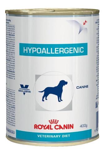 Ração Royal Canin Veterinary Diet Canine Hypoallergenic para cachorro adulto todos os tamanhos sabor mix em lata de 400g