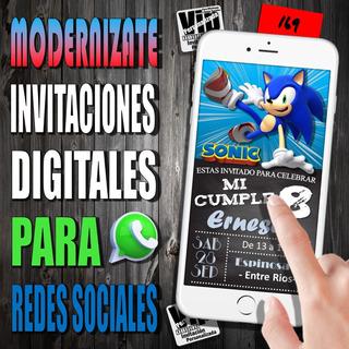 Tarjetas De Invitacion De Sonic En Mercado Libre Argentina