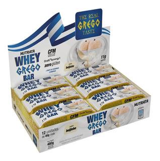 Whey Grego Bar 40g Caixa 12 Unidades Nutrata