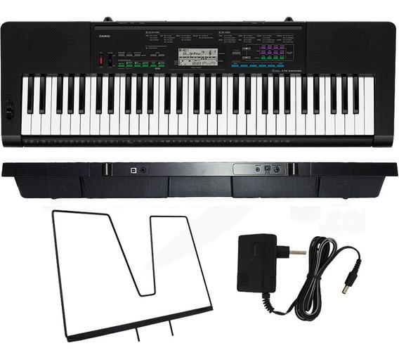 Teclado Musical Profissional 61 Teclas Ctk-3400 Casio