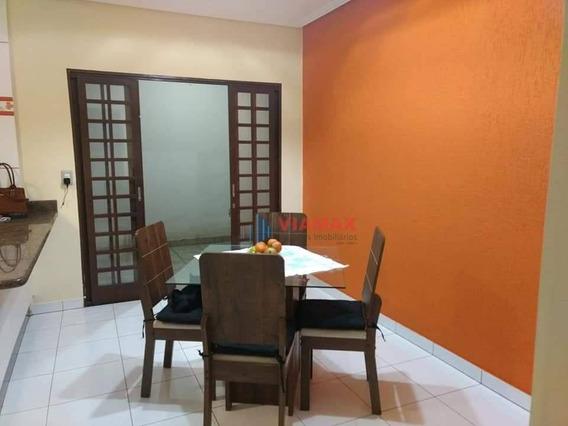 Casa Com 3 Dormitórios À Venda, 285 M² Por R$ 392.200 - Vila Menino Jesus - Caçapava/sp - Ca0669
