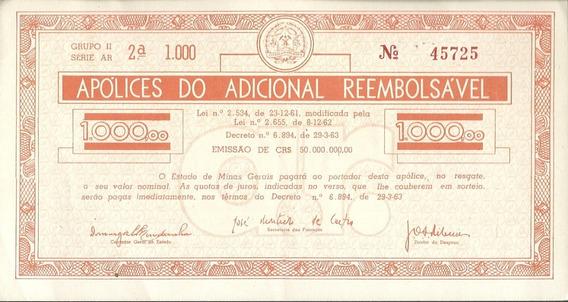 Apólice Do Adicional Reembolsável Estado De M.g 1000,00