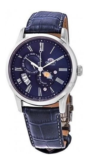 Reloj Orient Sol Y Luna Aut Versión 3 Safiro Azul Original