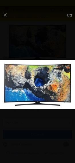 Tv Samsung Led 55 4k Curva Tela Quebrada