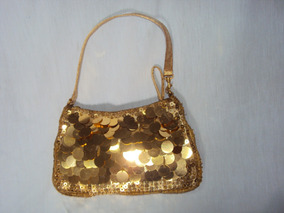 Bolsa Dourada Para Festa De Lantejoula
