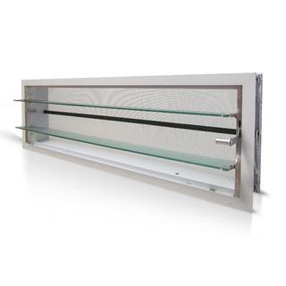 Aireador Ventiluz De Aluminio Blanco 100x026 Con Reja