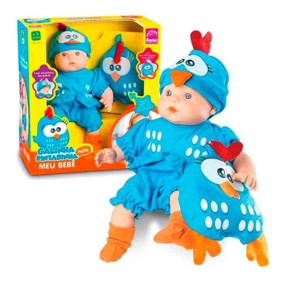 Boneca Galinha Pintadinha Baby - Meu Bebe - 34 Cm - Roma