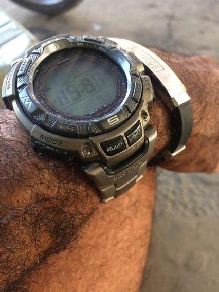 Relógio Casio Proteck Titânio Solar