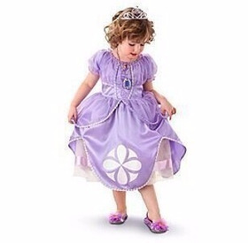 Vestido Fantasia Princesa Sofia - Pronta Entrega Com Coroa