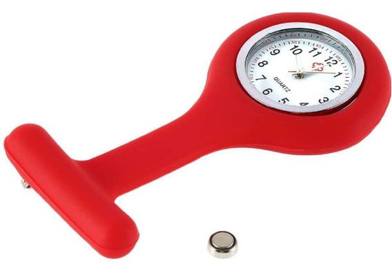 Kit 10 Relógios Lapela Silicone Enfermagem C/ Opção De Cores