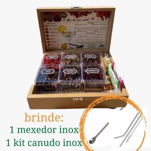 Imagem 1 de 4 de Kit Gin 9 Especiarias Brinde Mexedor Inox - Bombay Envio24h