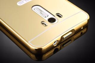 13 Capas Bumper Metal Espelhada P/ Asus Zenfone Selfie