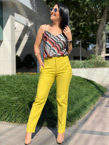Calça Alfaiataria Amarela Zara