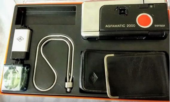 Câmera Agfa Agfamatic 2000 Anos 70 Perfeita