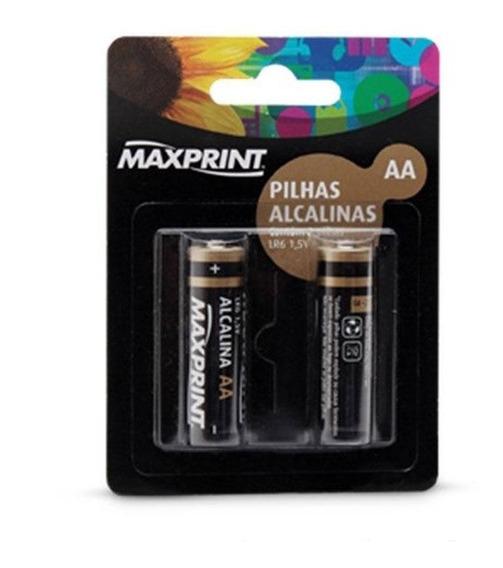 Pilha Alcalina Aa Pequena 2 Un Maxprint 75633-9