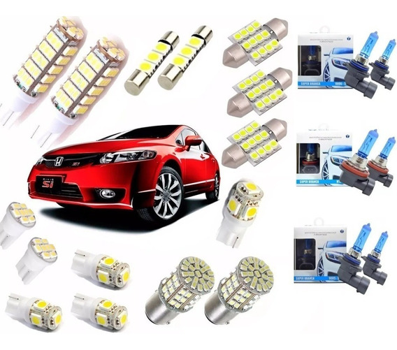Kit Lampadas Led Civic 2006 2007 2008 2009 2010 2011 Techone