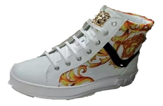 Tenis Sneakers Versace Botín, Envío Gratis