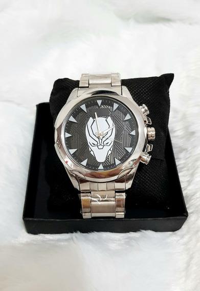 Relógio Pantera Negra Masculino Hq Marvel Black Panther