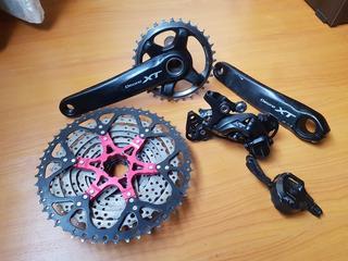 Grupo Shimano Deore Xt 11 Velocidades Cadena Dorada