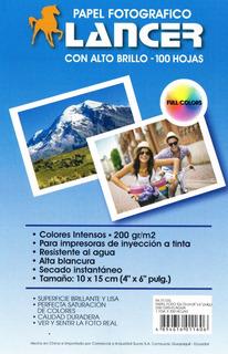Papel Fotografico A Prueba De Agua 100 Hoja 10 X 15 Cm 4 X 6