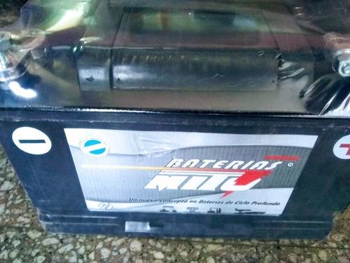 Imagen 1 de 4 de Batería Mito Ciclo Profundo 12v 110ha Panel Solar Náutica