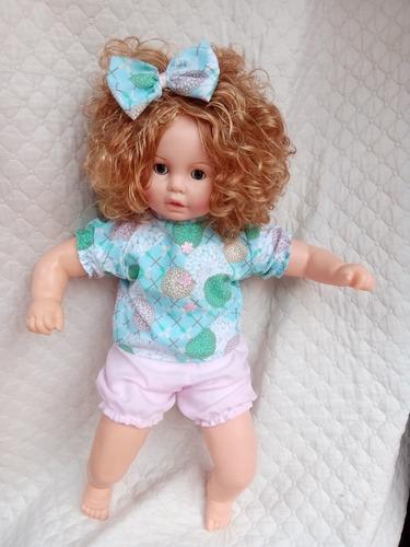 Muñeca Grande Bebe De Cabello