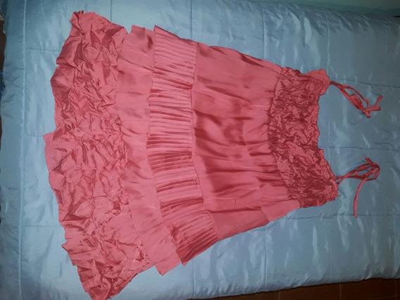 Vestido Fiesta Allo Martinez Mujer Rosa Usado Talle 2