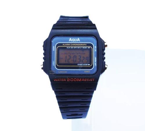 Relógio Barato Original Aqua A Prova Dagua Alarme.