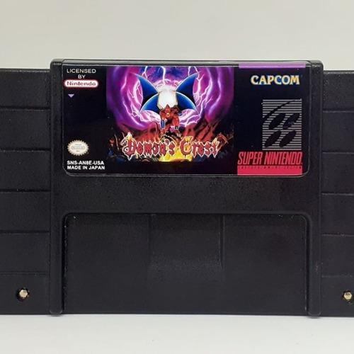 Fita Super Nintendo Nova: Demons Crest (case Preta)