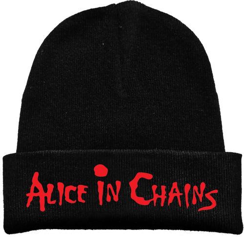 Gorro Lana Alice In Chains Rock Metal Tv Estampado Urbanoz