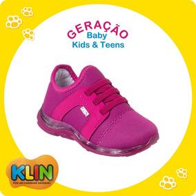 2c6b2d2ef5b Tênis Baby Light C  Luz Infantil Klin Tamanho 22 A 27 -20884