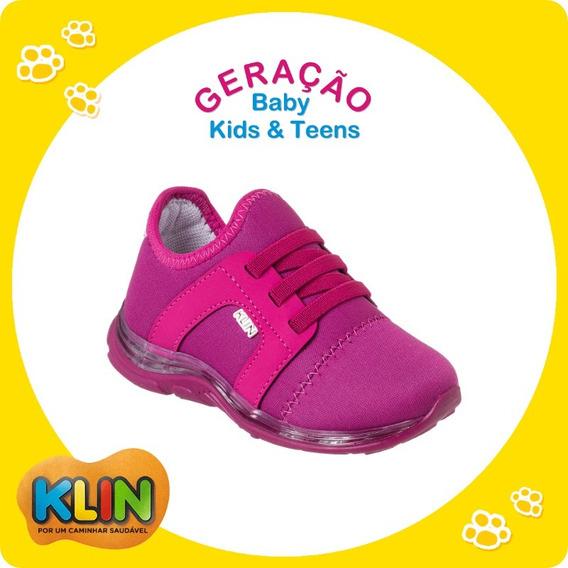 Tênis Baby Light C/ Luz Infantil Klin Tamanho 22 A 27 -20884