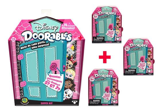 Doorables Disney 1 Super Kit Surpresa + 3 Mini Kit Surpresa