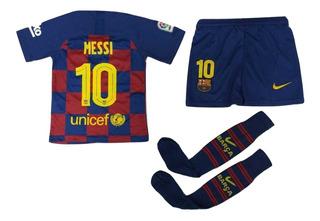 Uniforme Futbol Barcelona Messi #10 Niño 2020 Medias Gratis