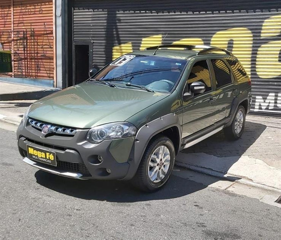 Fiat Palio Weekend Adventure 1.8 Flex Completo 2013 Verde