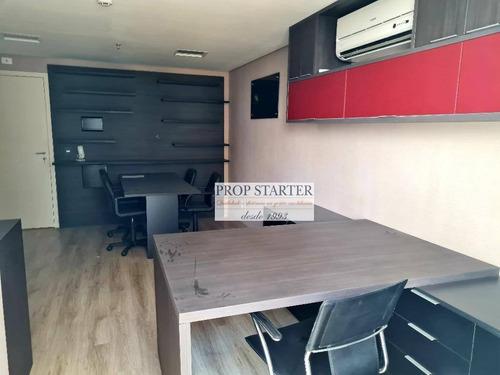 Imagem 1 de 14 de Escritório Mobiliado Para Alugar, 27 M² Por R$ 1.700/mês - Paraíso - Prop Starter Adm. Imóveis - Cj0066