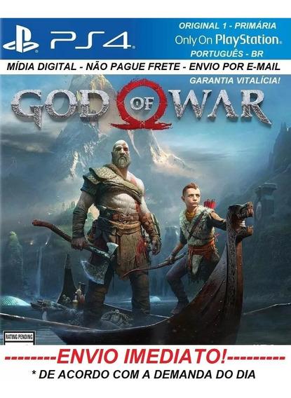 God Of War Ps4 - Original 1 - Português - Digital- Vitalícia