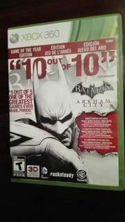 Batman Arkham City Xbox Impecable Estado En Cosmo-games